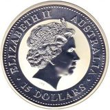 15 долларов 2005, серебро (Ag 999) | Год Петуха — Австралия, фото 1