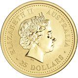 25 долларов 2005, золото (Au 999) | Год Петуха — Австралия, фото 1