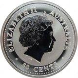 50 центов 2005, серебро (Ag 999) | Год Петуха — Австралия, фото 1