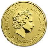 15 долларов 2006, золото (Au 999) | Год Собаки — Австралия, фото 1