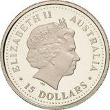 15 долларов 2006, платина (Pt 999) | Пустынная роза Стерта — Австралия, фото 1