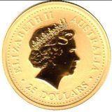 25 долларов 2007, золото (Au 999) | Год Свиньи — Австралия, фото 1