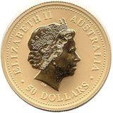 50 долларов 2007, золото (Au 999) | Год Свиньи — Австралия, фото 1