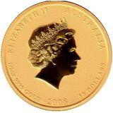 25 долларов 2008, золото (Au 999) | Год мыши — Австралия, фото 1