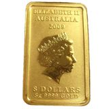 8 долларов 2008, золото (Au 999) | Персонажи китайской мифологии: Богатство — Австралия, фото 1