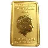 8 долларов 2008, золото (Au 999) | Персонажи китайской мифологии: Долголетие — Австралия, фото 1