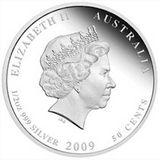 50 центов 2009, серебро (Ag 999) | Морской конек-тряпичник — Австралия, фото 1