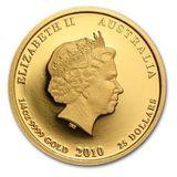1000 долларов 2010, золото (Au 999) | Год Тигра — Австралия, фото 1