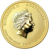 25 долларов 2013, золото (Au 999) | Год Змеи (цветная) — Австралия, фото 1