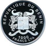 1000 франков 2013, серебро (Ag 925) | Бавария — Бенин, фото 1