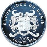 1000 франков 2013, серебро (Ag 925) | Санкт-Петербург — Бенин, фото 1