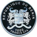 1000 франков 2014, серебро (Ag 925) | Барселона — Бенин, фото 1