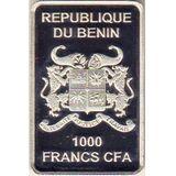 1000 франков 2014, серебро (Ag 925) | Германский рыцарь — Бенин, фото 1