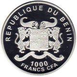 1000 франков 2014, серебро (Ag 925) | Лондон — Бенин, фото 1