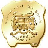 500 франков 2019, серебро (Ag 925) | Год свиньи — Бенин, фото 1