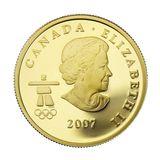 75 долларов 2007, золото (Au 583) | Ванкувер 2010: гуси — Канада, фото 1