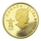 75 долларов 2009, золото (Au 583) | Ванкувер 2010: лось — Канада, фото 1