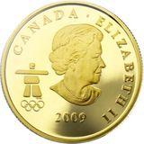 75 долларов 2009, золото (Au 583) | Ванкувер 2010: волк — Канада, фото 1