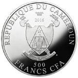 500 франков 2016, серебро (Ag 999) | Цвета жизни — Камерун, фото 1