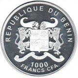 1000 франков 2012, серебро (Ag 925) | Йоркширский терьер — Бенин, фото 1