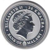 20 квача 2009, серебро (Ag 999) | Бык на успех — Малави, фото 1