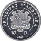 10 динеров 2007, серебро (Ag 925) | Экстрим: сноуборд — Андорра, фото 1