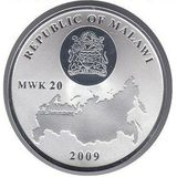 20 квача 2009, серебро (Ag 999) | Исаакиевский собор — Малави, фото 1