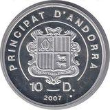 10 динеров 2007, серебро (Ag 925) | Экстрим: горные лыжи — Андорра, фото 1