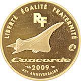 50 евро 2009, золото (Au 999) | Конкорд, фото 1