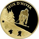 50 евро 2009, золото (Au 999) | Олимпиада в Ванкувере, фото 1