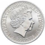 2 фунта 1998, серебро (Ag 958)   Британия (стоящая) — Великобритания, фото 1