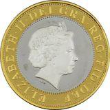 2 фунта 2005, серебро (Ag 925) | 60 лет окончания Второй мировой войны — Великобритания, фото 1