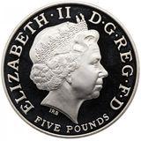 5 фунтов 2005, серебро (Ag 925) | 200 лет Трафальгарской битве — Великобритания, фото 1