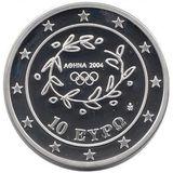 10 евро 2004, серебро (Ag 925) | Бег — Греция, фото 1