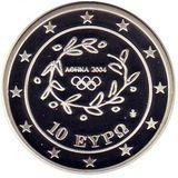 10 евро 2004, серебро (Ag 925) | Прыжки в длину — Греция, фото 1