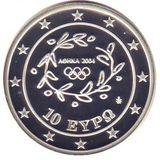 10 евро 2004, серебро (Ag 925) | Эстафета — Греция, фото 1