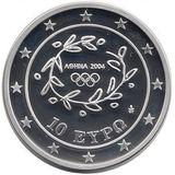 10 евро 2004, серебро (Ag 925) | Гимнастика — Греция, фото 1
