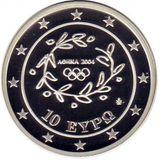 10 евро 2004, серебро (Ag 925) | Плавание — Греция, фото 1