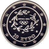10 евро 2004, серебро (Ag 925) | Тяжёлая атлетика — Греция, фото 1