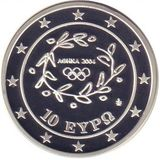 10 евро 2004, серебро (Ag 925) | Футбол — Греция, фото 1