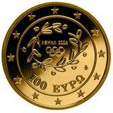 100 евро 2009, золото (Ag 999) | Крипта — Греция, фото 1