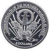 5 долларов 2004, серебро (Ag 925) | Альберт Эйнштейн — США, фото 1