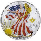1 доллар 2007, серебро (Ag 999) | Американский орел (шагающая Свобода), осень — США, фото 1