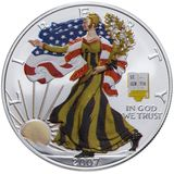 1 доллар 2007, серебро (Ag 999) | Американский орел (шагающая Свобода), зима — США, фото 1