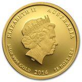 25 долларов 2014, золото (Au 999) | Год Лошади (цветная) — Австралия, фото 1