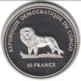 10 франков 2000, серебро (Ag 925) | Рыбы и кораллы — Конго, фото 1