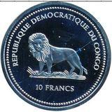 10 франков 2003, серебро (Ag 925) | Хамелеон — Конго, фото 1