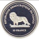 10 франков 2005, серебро (Ag 925) | Красная рыбка — Конго, фото 1