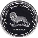 Набор монет 2004, серебро (Ag 925) | Райские птицы — Конго, фото 1