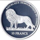 10 франков 2006, серебро (Ag 925) | Поросенок — Конго, фото 1